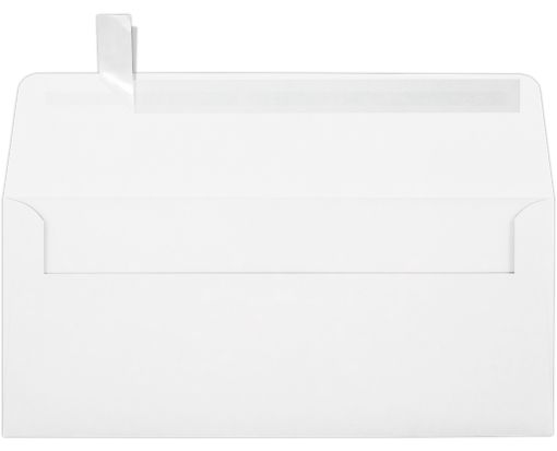 #10 Square Flap Envelopes (4 1/8 x 9 1/2) 80lb. White, Inkjet