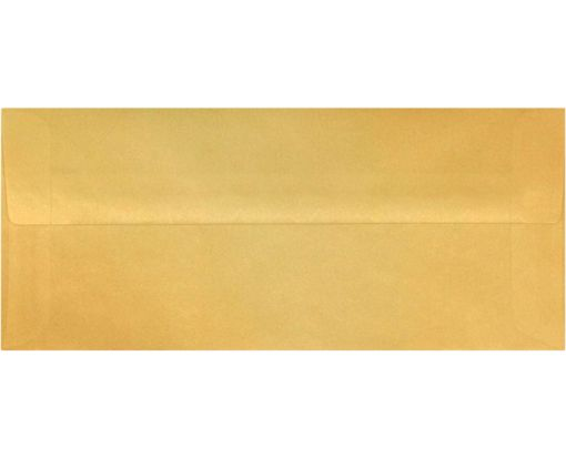 #10 Square Flap Envelopes (4 1/8 x 9 1/2) Gold Translucent