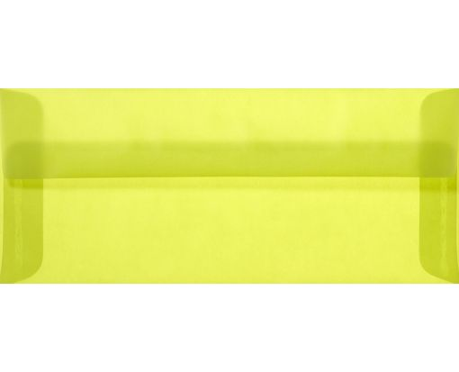 #10 Square Flap Envelopes (4 1/8 x 9 1/2) Chartreuse Translucent