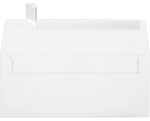 #10 Square Flap Envelopes (4 1/8 x 9 1/2) w/Peel & Press™ 80lb. White w/Peel & Press™