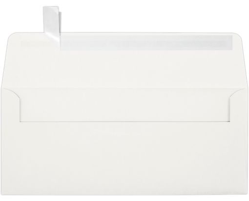 #10 Square Flap Envelopes (4 1/8 x 9 1/2) 100% Cotton Natural White - 100% Cotton