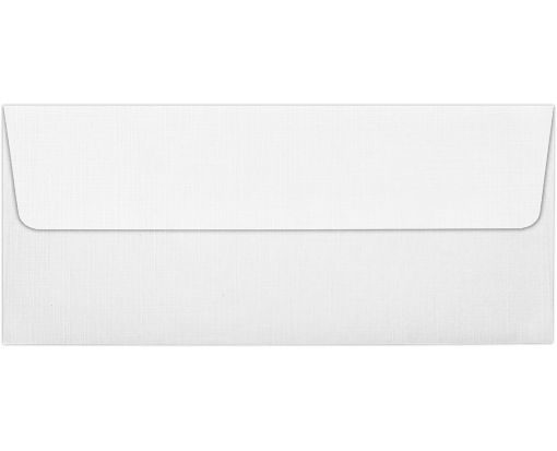 #10 Square Flap Envelopes (4 1/8 x 9 1/2) White Linen