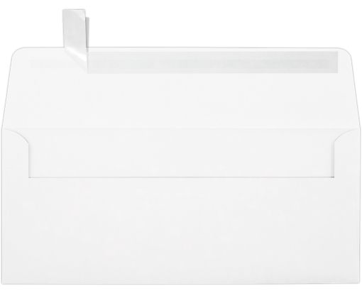 #10 Square Flap Envelopes (4 1/8 x 9 1/2) White - 100% Recycled