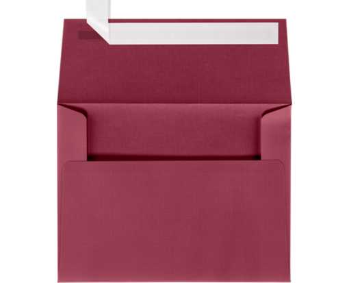 A2 Invitation Envelopes (4 3/8 x 5 3/4) Burgundy Linen