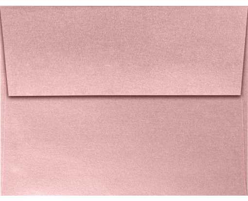 A2 Invitation Envelopes (4 3/8 x 5 3/4) Misty Rose Metallic - Sirio Pearl®