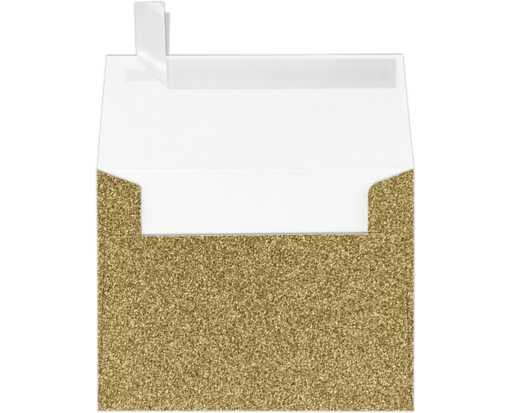 A2 Invitation Envelopes (4 3/8 x 5 3/4) Gold Sparkle