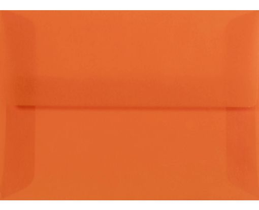 A6 Envelopes (4 3/4 x 6 1/2) Orange Translucent