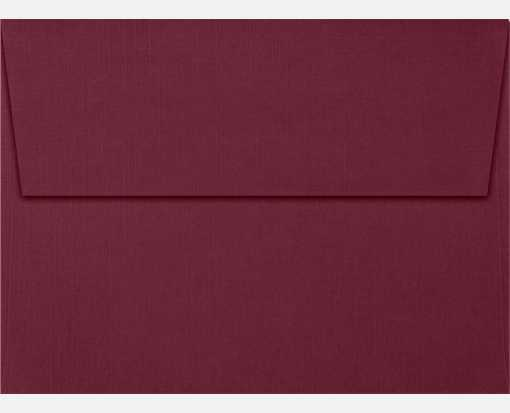 A6 Invitation Envelopes (4 3/4 x 6 1/2) Burgundy Linen