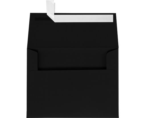 A6 Invitation Envelopes (4 3/4 x 6 1/2) Black Linen