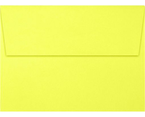 A6 Invitation Envelopes (4 3/4 x 6 1/2) Electric Yellow