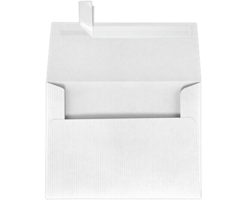 A6 Invitation Envelopes (4 3/4 x 6 1/2) White Groove