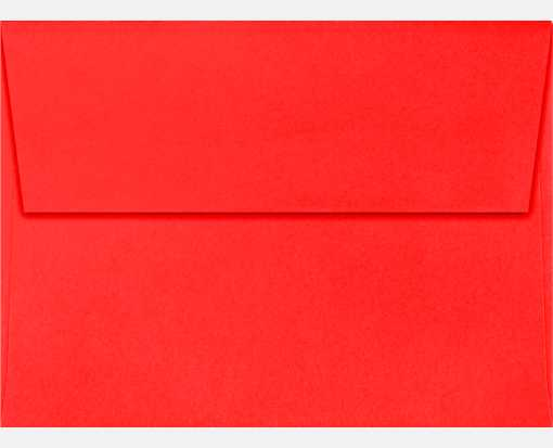 A7 Invitation Envelopes (5 1/4 x 7 1/4) Electric Coral