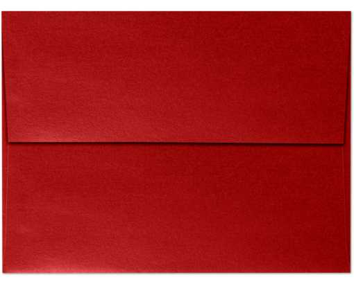 A7 Invitation Envelopes (5 1/4 x 7 1/4) Red Fever Metallic