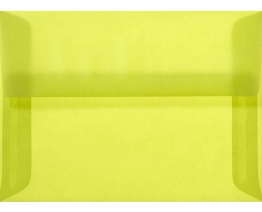 A7 Envelopes (5 1/4 x 7 1/4) Chartreuse Translucent