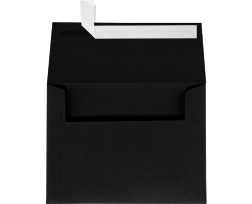 A7 Invitation Envelopes (5 1/4 x 7 1/4) Black Linen