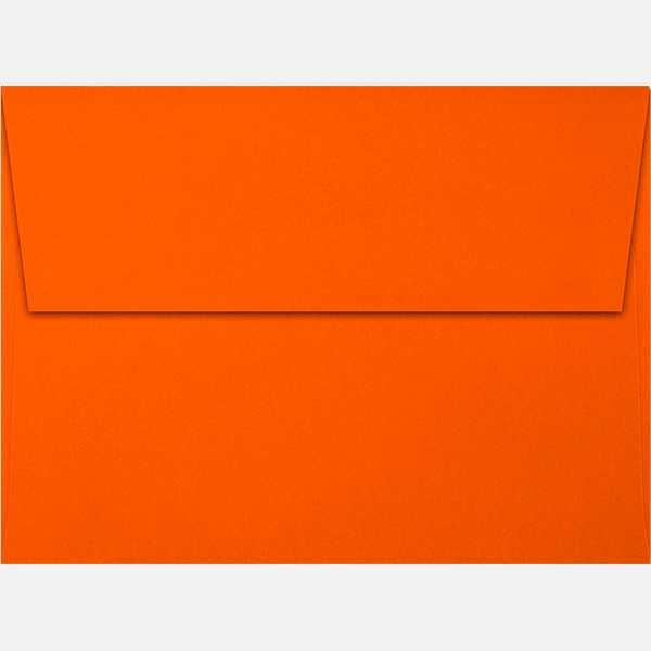 neon red orange a7 envelopes square flap 5 1 4 x 7 1 4