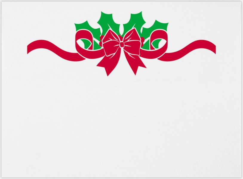 holly w bow on white a7 envelopes square flap 5 1 4 x 7 1 4