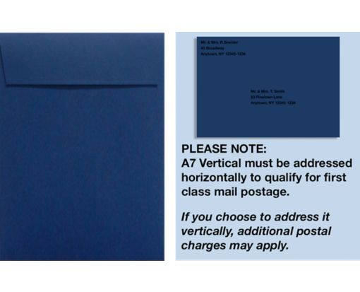 A7 Vertical Invitation Envelopes (7 1/4 x 5 1/4) Navy