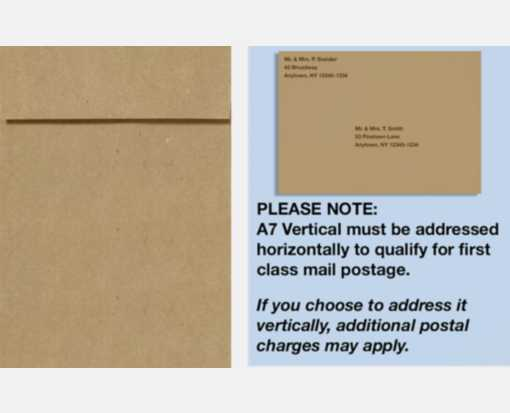 A7 Vertical Invitation Envelopes (7 1/4 x 5 1/4) Grocery Bag