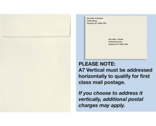 A7 Vertical Invitation Envelopes (7 1/4 x 5 1/4) Natural - 100% Recycled
