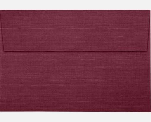 A8 Invitation Envelopes (5 1/2 x 8 1/8) Burgundy Linen