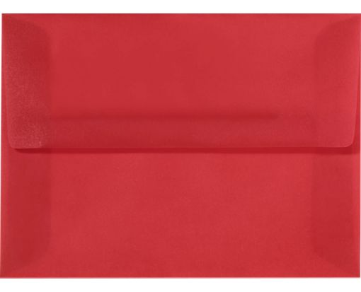 A10 Invitation Envelopes (6 x 9 1/2) Red Translucent