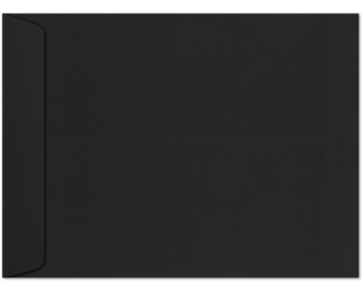 9 x 12 Open End Envelopes Black Linen
