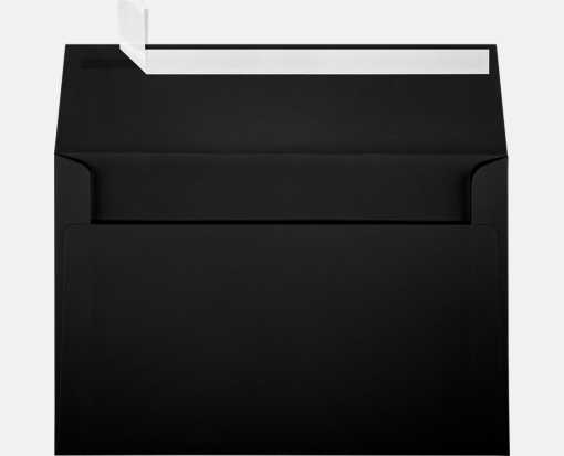 A9 Invitation Envelopes (5 3/4 x 8 3/4) Black Linen