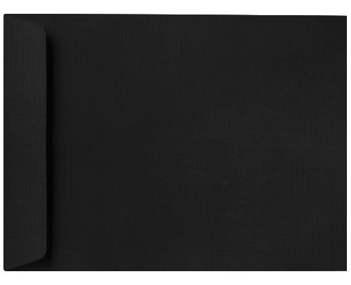 10 x 13 Open End Envelopes Black Linen