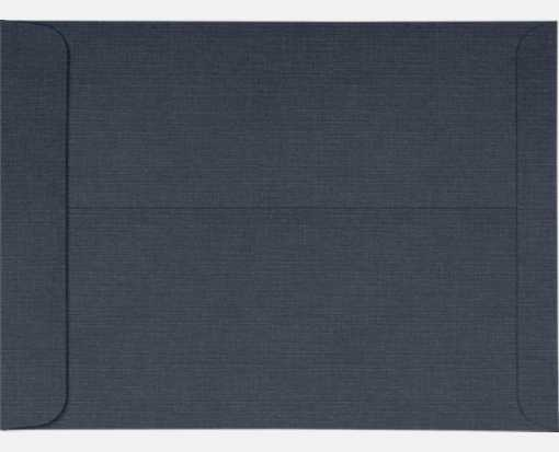 10 x 13 Open End Envelopes Nautical Blue Linen