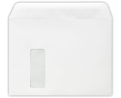 9 x 12 Booklet Laser Safe Window Envelopes 28lb. White (Laser Safe)
