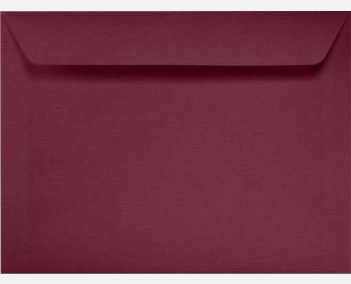 9 x 12 Booklet Envelopes Burgundy Linen