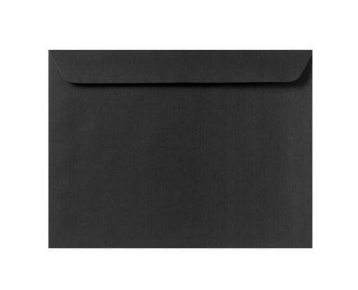 9 x 12 Booklet Envelopes Black Linen