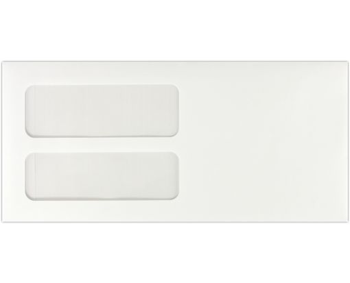4 3/16 x 9 Double Window Envelopes 24lb. White, Machine