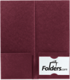 4 x 9 Mini Folders - Two Pockets Burgundy Linen