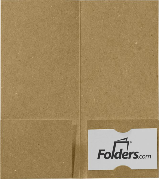 4 x 9 Mini Folders - Two Pockets Grocery Bag