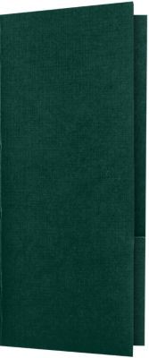 4 x 9 Mini Folders - Two Pockets Green Linen