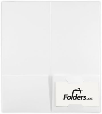 4 x 9 Pocket Folders White Linen