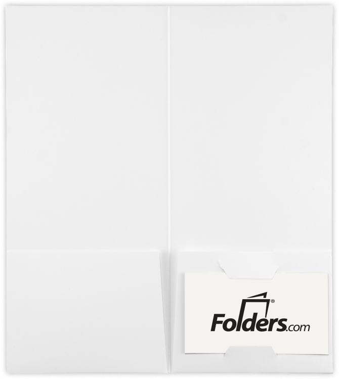 4 x 9 Pocket Folders 100lb. White