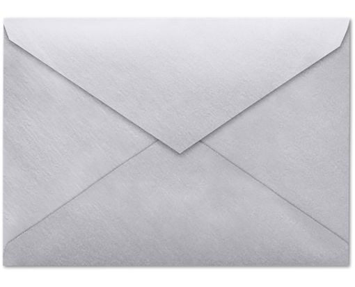4 BAR Envelopes (3 5/8 x 5 1/8) Silver Metallic