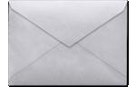 4 BAR Envelopes Silver Metallic