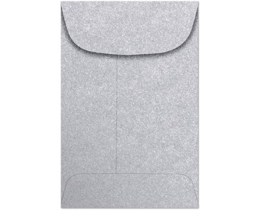 #4 Coin Envelopes (3 x 4 1/2) - Silver Metallic Silver Metallic