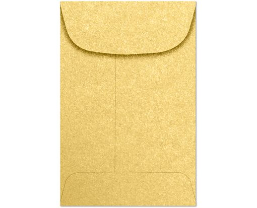 #4 Coin Envelopes (3 x 4 1/2) - Gold Metallic 80lb. Gold Metallic