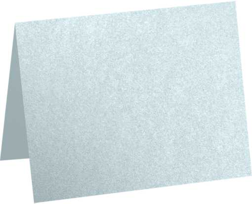 A1 Folded Card (3 1/2 x 4 7/8) Aquamarine Metallic