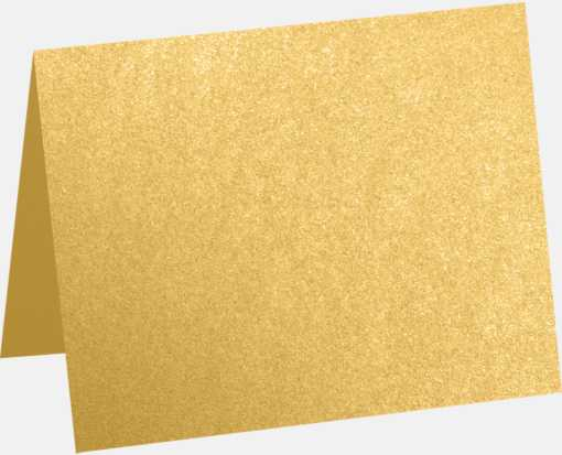A1 Folded Card (3 1/2 x 4 7/8) Gold Metallic