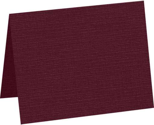 A1 Folded Card (3 1/2 x 4 7/8) Burgundy Linen