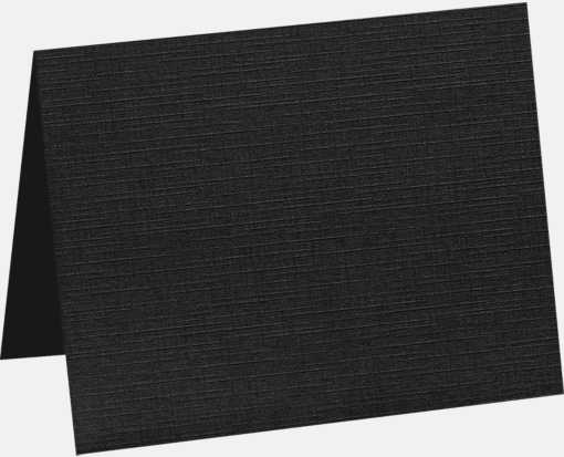 A1 Folded Card (3 1/2 x 4 7/8) Black Linen