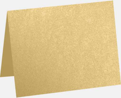 A1 Folded Card (3 1/2 x 4 7/8) Blonde Metallic