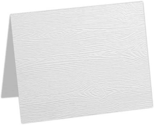A1 Folded Card White Birch Woodgrain
