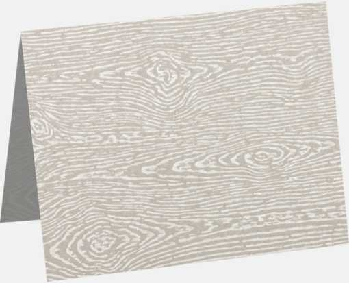A1 Folded Card (3 1/2 x 4 7/8) Brasilia Gray Woodgrain